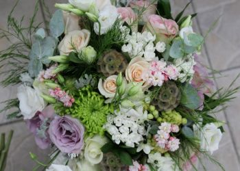 MIXED FLOWERS WEDDING BOUQUET